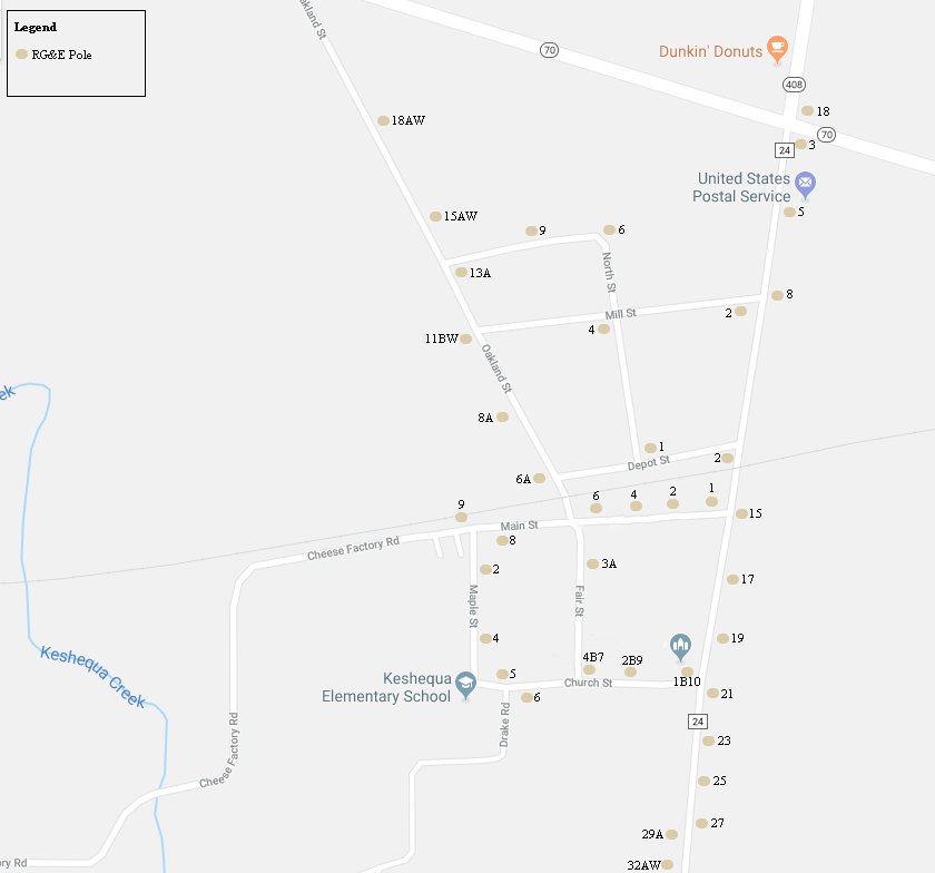 Dalton Street Light Map